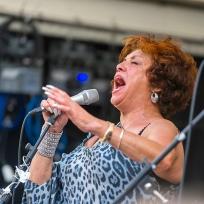 singer performing at Brecon Jazz 2011
